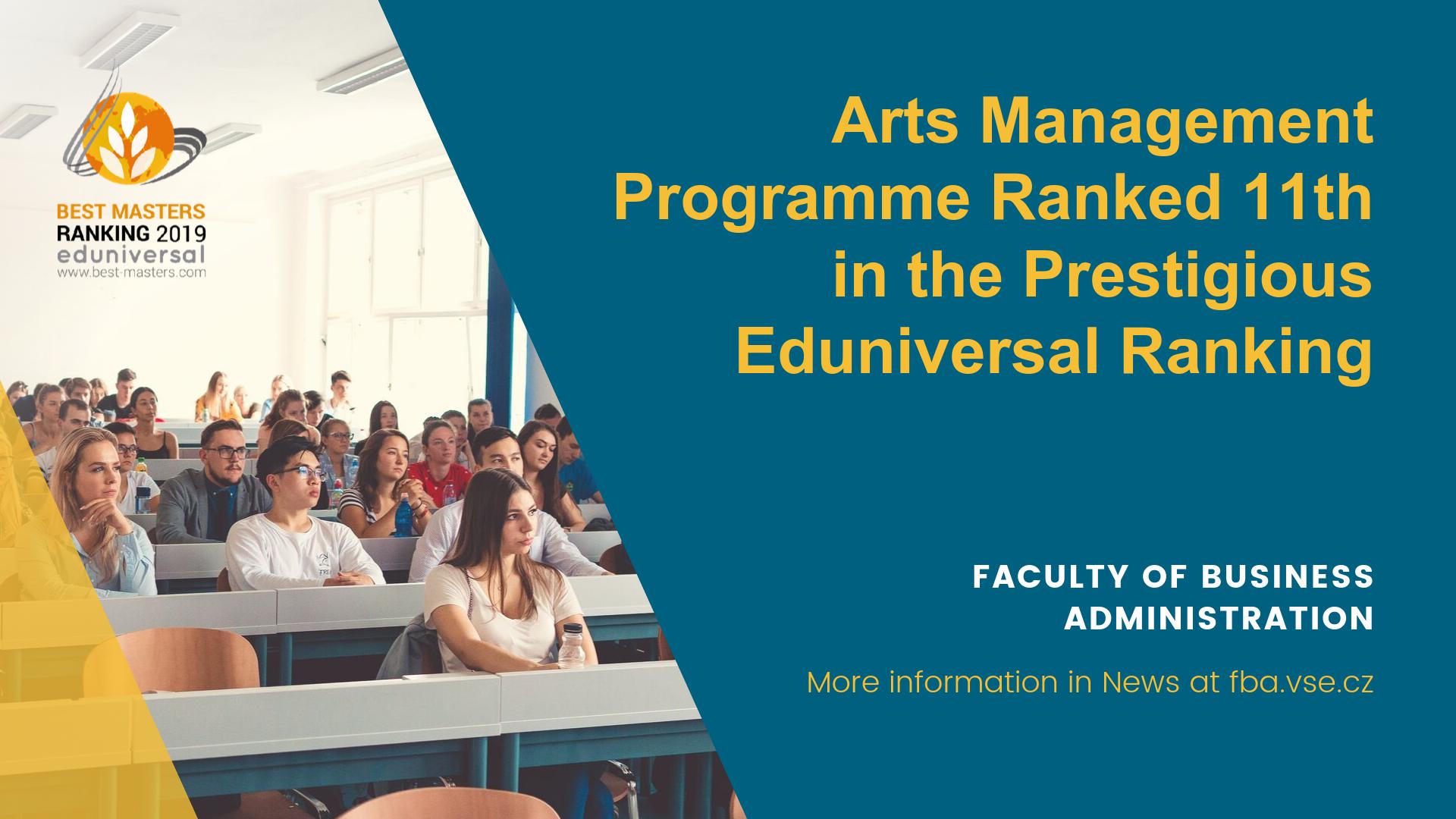 Arts management programme got 11th place in prestigious Eduniversal ranking