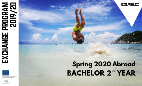 Exchange program 2019/2020, spring 2020 Abroad for Bachelor 2nd year by OZS VŠE.